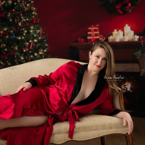 Christmas Boudoir Plus Size Chicago