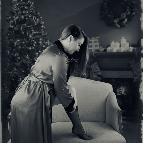 Christmas Boudoir Photography in Chicago